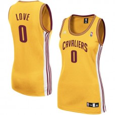 Women's Cleveland Cavaliers #0 Kevin Love Gold Road Jersey