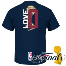 Cleveland Cavaliers #0 Kevin Love Navy Blue Champions T-Shirt