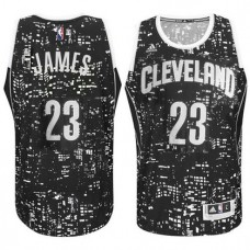 Cleveland Cavaliers #23 LeBron James Black City Lights Jersey