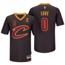 Cleveland Cavaliers #0 Kevin Love Black Sleeved Jersey