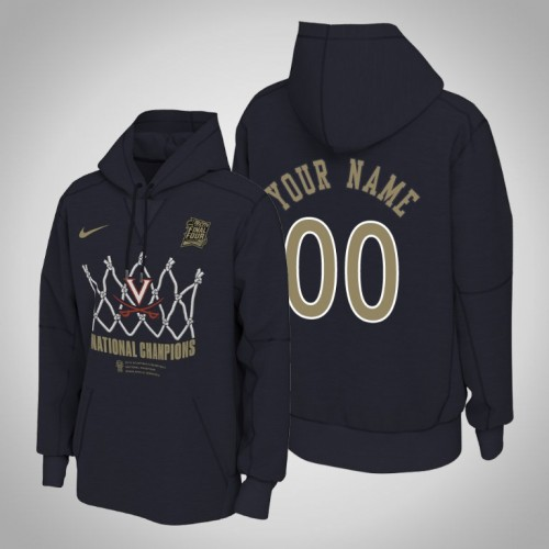 Virginia Cavaliers #00 Custom Navy 2019 Basketball Champions Hoodie