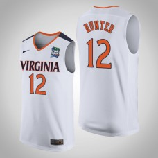 Virginia Cavaliers #12 De'Andre Hunter White 2019 Final-Four Jersey