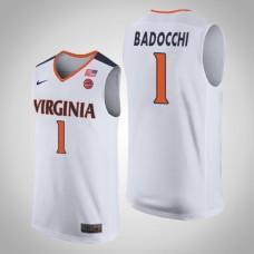 Francesco Badocchi NCAA Virginia Cavaliers Basketball Jersey - White