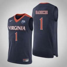 Virginia Cavaliers #1 Francesco Badocchi Navy 2019 Basketball Champions Jersey