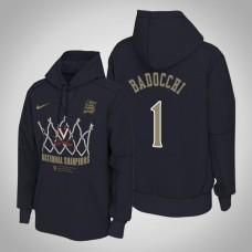 Virginia Cavaliers #1 Francesco Badocchi Navy 2019 Basketball Champions Hoodie
