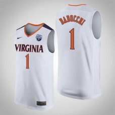 Virginia Cavaliers #1 Francesco Badocchi White 2019 Basketball Champions Jersey