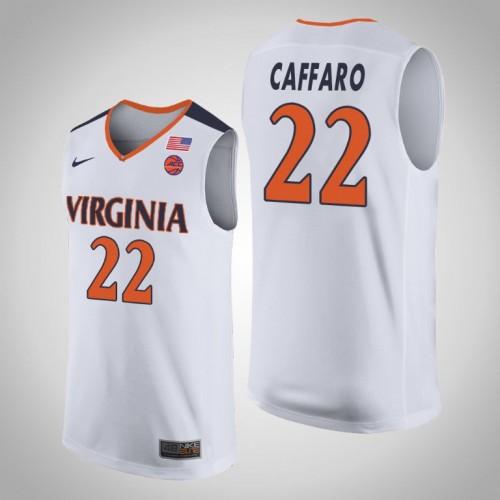 Francisco Caffaro NCAA Virginia Cavaliers Basketball Jersey - White