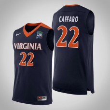 Virginia Cavaliers #22 Francisco Caffaro Navy 2019 Final-Four Jersey