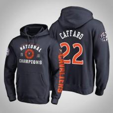 Virginia Cavaliers #22 Francisco Caffaro Navy 2019 Basketball Champions Hoodie