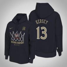 Virginia Cavaliers #13 Grant Kersey Navy 2019 Basketball Champions Hoodie