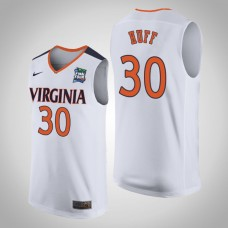 Virginia Cavaliers #30 Jay Huff White 2019 Final-Four Jersey