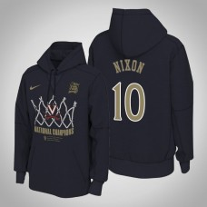 Jayden Nixon NCAA Virginia Cavaliers Navy 2019 Basketball Champions Locker Room Pullover Hoodie