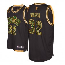 Cleveland Cavaliers #32 Jeff Green Black Military Camo Fashion Jersey