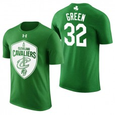 Cleveland Cavaliers #32 Jeff Green Green St. Patrick's Day T-Shirt