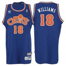 Cleveland Cavaliers #18 John Hot Rod Williams Blue Hardwood Classics Jersey