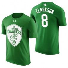 Cleveland Cavaliers #8 Jordan Clarkson Green St. Patrick's Day T-Shirt