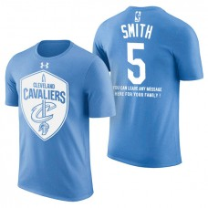 Cleveland Cavaliers #5 JR Smith Blue Father's Day T-Shirt