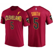 Cleveland Cavaliers #5 JR Smith Wine Icon T-Shirt
