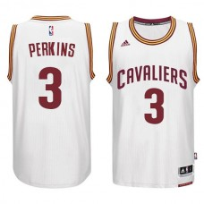 Cleveland Cavaliers #3 Kendrick Perkins White Home Jersey