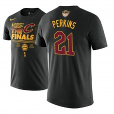 Kendrick Perkins Cavaliers 2018 Finals Trophy Black T-Shirt