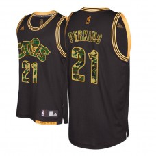 Cleveland Cavaliers #21 Kendrick Perkins Black Military Camo Fashion Jersey