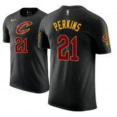 Cleveland Cavaliers #21 Kendrick Perkins Black Statement T-Shirt