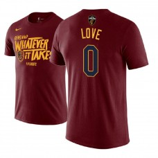 Cleveland Cavaliers #0 Kevin Love Maroon Name & Number T-Shirt