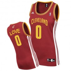 Women's Cleveland Cavaliers #0 Kevin Love Red Road Jersey