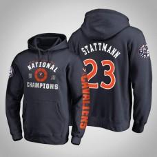 Virginia Cavaliers #23 Kody Stattmann Navy 2019 Basketball Champions Hoodie