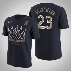 Virginia Cavaliers #23 Kody Stattmann Navy 2019 Basketball Champions T-Shirt
