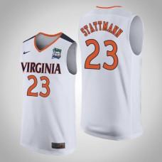 Virginia Cavaliers #23 Kody Stattmann White 2019 Final-Four Jersey