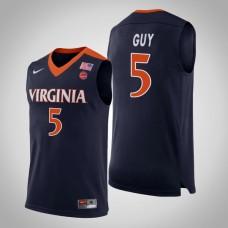 Virginia Cavaliers #5 Kyle Guy Navy College Basketball Jersey