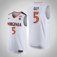 Virginia Cavaliers #5 Kyle Guy White College Basketball Jersey