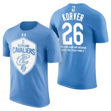 Cleveland Cavaliers #26 Kyle Korver Blue Father's Day T-Shirt