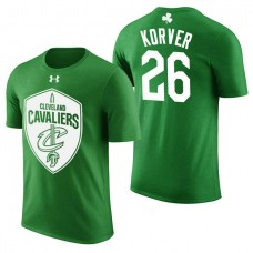 Cleveland Cavaliers #26 Kyle Korver Green St. Patrick's Day T-Shirt