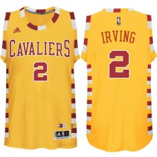Cleveland Cavaliers #2 Kyrie Irving Gold Hardwood Classics Jersey