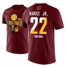 Larry Nance Jr. Cavaliers 2018 Finals Trophy Wine T-Shirt