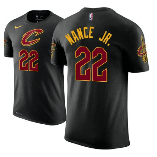 Cleveland Cavaliers #22 Larry Nance Jr. Black Statement T-Shirt
