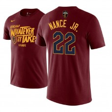 Larry Nance Jr. Cavaliers Maroon 2018 Playoffs Mantra Legend T-Shirt