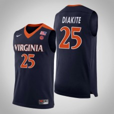 Mamadi Diakite NCAA Virginia Cavaliers Basketball Jersey - Navy