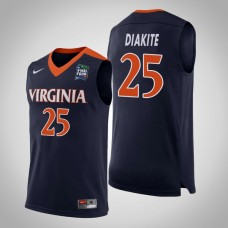 Virginia Cavaliers #25 Mamadi Diakite Navy 2019 Final-Four Jersey
