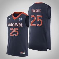 Virginia Cavaliers #25 Mamadi Diakite Navy 2019 Basketball Champions Jersey