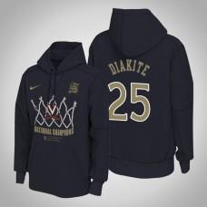 Virginia Cavaliers #25 Mamadi Diakite 2019 Basketball Champions Navy Hoodie