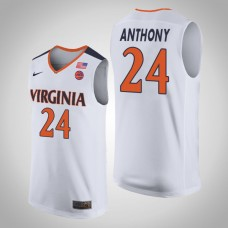 Virginia Cavaliers #24 Marco Anthony White College Basketball Jersey