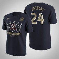 Virginia Cavaliers #24 Marco Anthony Navy 2019 Basketball Champions T-Shirt