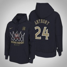 Virginia Cavaliers #24 Marco Anthony Navy 2019 Basketball Champions Hoodie