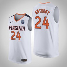 NCAA Marco Anthony Virginia Cavaliers White 2019 Basketball Champions Jersey