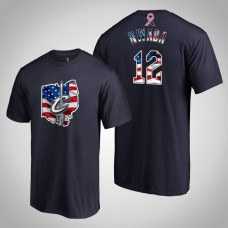 Cleveland Cavaliers David Nwaba #12 2019 Memorial Day Banner State Navy T-shirt