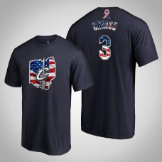 Cleveland Cavaliers Marquese Chriss #3 2019 Memorial Day Banner State Navy T-shirt