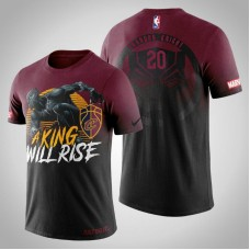 Cleveland Cavaliers #20 Brandon Knight Red Marvel T-Shirt